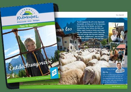 Broschuere Familiebroschuere Karwendel
