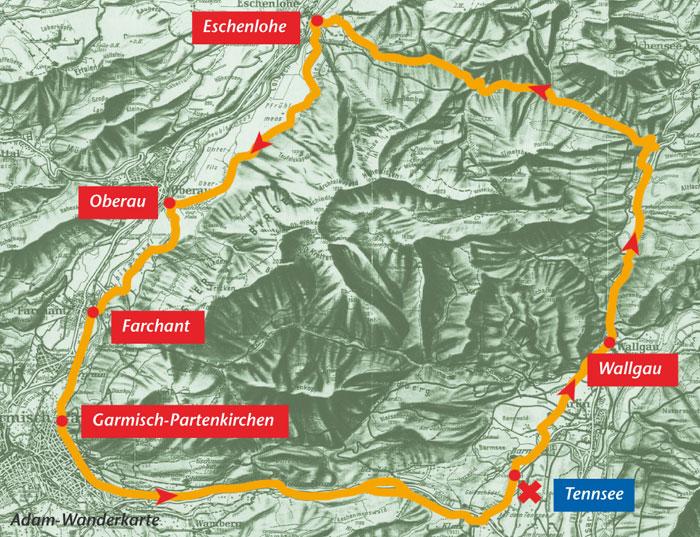 Karte Eschenlainetal