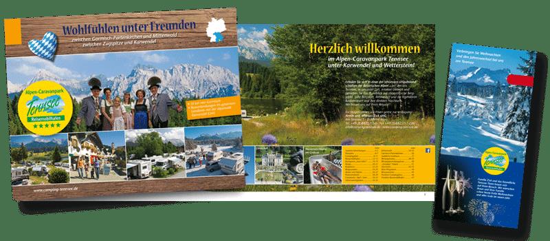 Alpen Caravanpark Tennsee Bayern Imagebroschuere