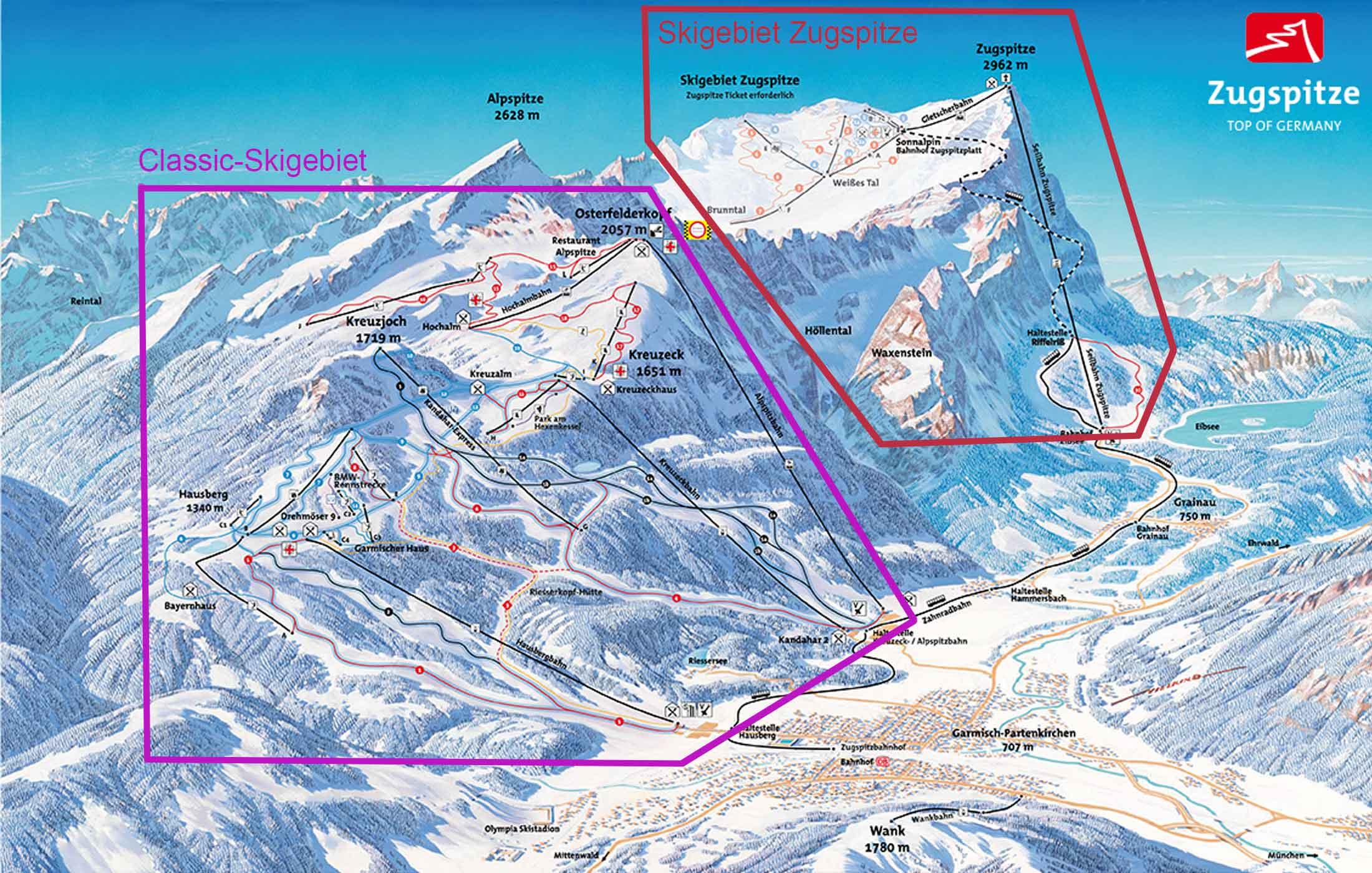 Skigebiete-GARMISCH-CLASSIC-Zugspitze